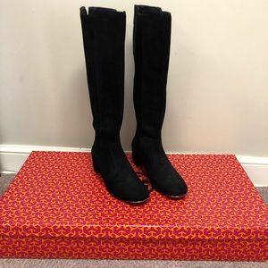 Tory Burch Ireland 45mm Black Suede Boots SZ 7